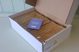 cut and serve box open with individual wrapped bars